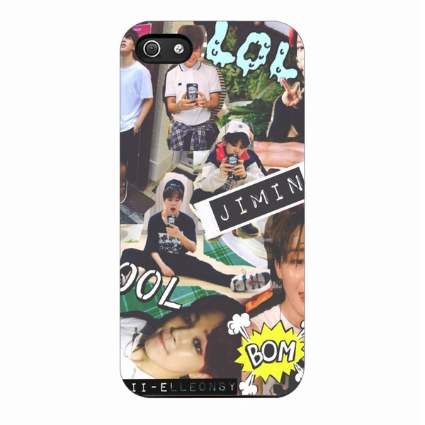 a260c440a82 BTS Jimin Cute Popular Collage Phone Shell Case Back Cover Protector ...