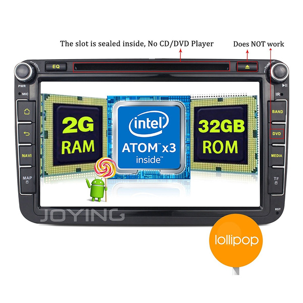 JOYING 8 for VW Android Head Unit Double Din Intel 5 1 2GB Auto Radio Audio  Car Stereo Touch Screen GPS Navigation Bluetoo