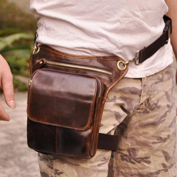Men/'s Vintage Motorcycle Rider Waist Hip Bum Fanny Pack Drop Leg Belt Bag Purse