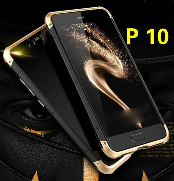best service 09c93 ad77b For Huawei P10 Aluminum Shockproof Case Waterproof Metal Bumper + PC Cover  Skin