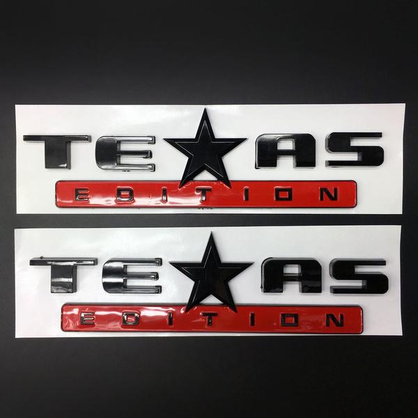 2x Texas Edition Emblem Badge Decal Sticker Chevrolet Chevy Silverado Sierra Gmc