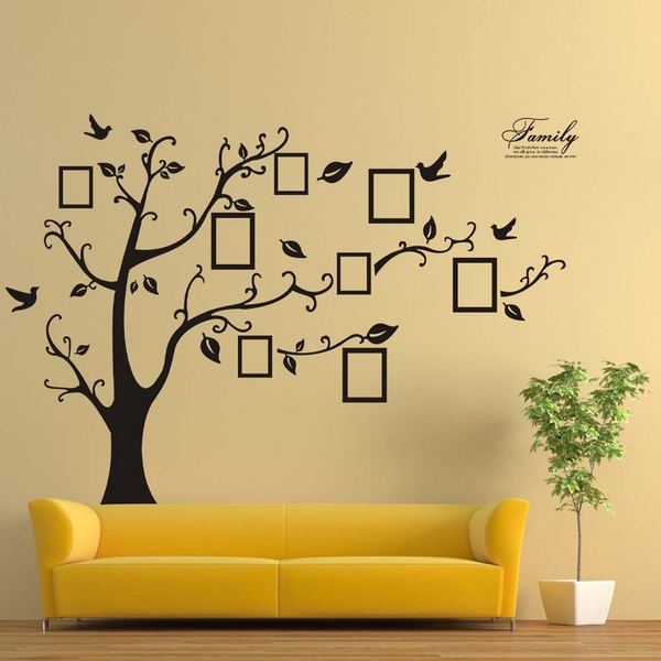Geek | new 3D DIY Photo Tree PVC Wall Decals Adhesive Wall Stickers ...
