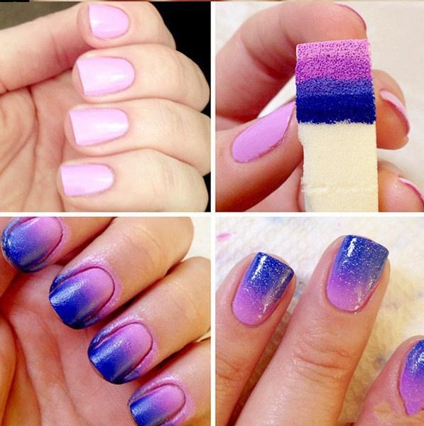Wish | 50Pcs/lot Gradient Nails Soft Sponges for Color Fade Manicure ...
