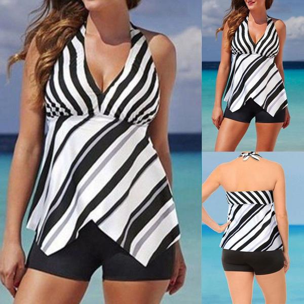Lady Tankini Sets with Boy Shorts Women Swim Costume Two Piece Swimsuits Fashion