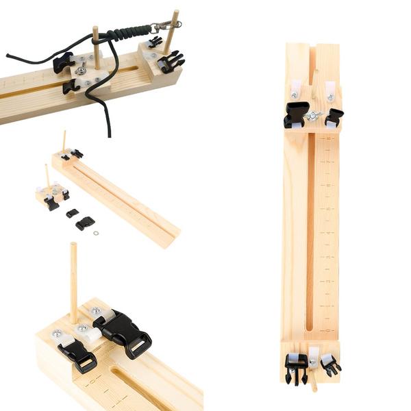 Knitting Wristband Knitting Tool DIY Wood Paracord Jig Bracelet Maker Wristband