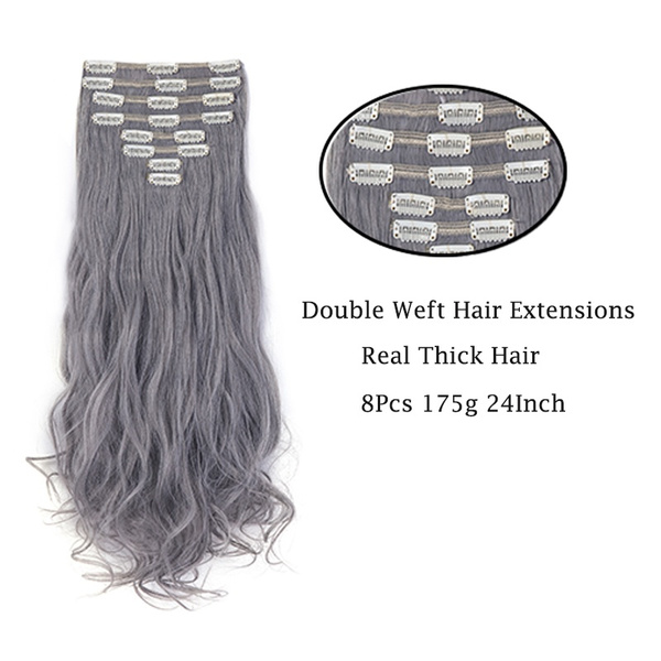 Geek 8pcs 175g Hair Extensions Full Head Clip In Hair Extensions