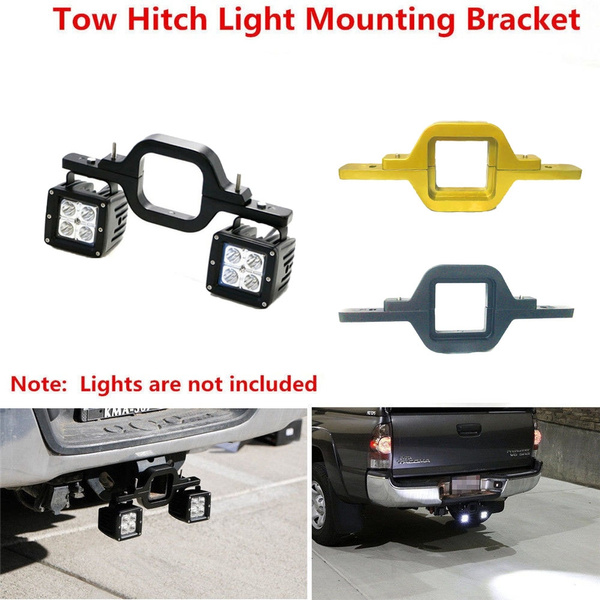 Reverse Lights Tow Hitch Mount Car Tow Hitch Mount Tow Hitch Bracket Tow Hitch Mounting Bracket for Dual LED Backup Reverse Lights Off Road Truck