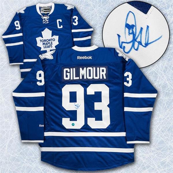 finest selection 31073 61d9b AJ Sports World GILD10400A Doug Gilmour Toronto Maple Leafs Autographed  Reebok Premier Hockey Jersey