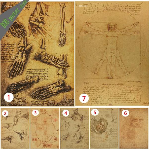 Decorative, manuscript, davinci, Posters