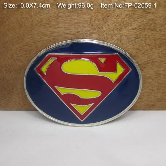 wish cool superman s type logo alloy belt buckle