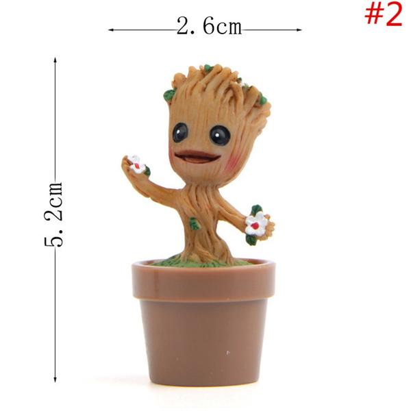 Wish Baby Groot Figure Action Pop Galaxy Groot Miniatures Mini