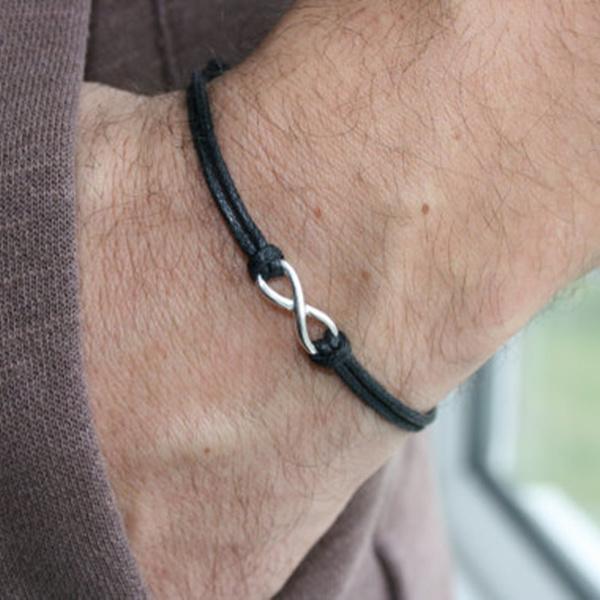 Mens Infinity Bracelet Gift For Him