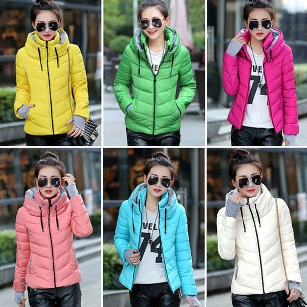Stand Collar, Plus Size, Winter, coatsampjacket