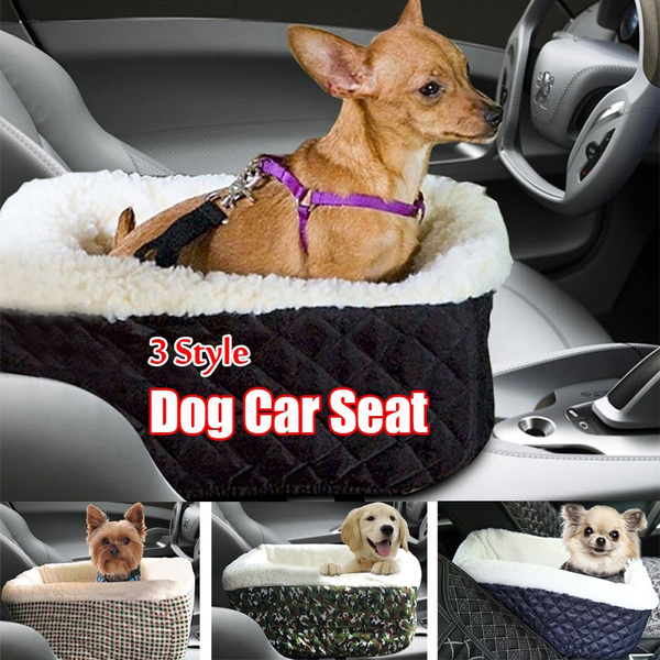 Small Dog Booster Seat,Comfortable Pet Car Seat Console Puppy Lookout Soft  Travel Car Seat with Safety Belt,Up to 8 Pounds(4kg)
