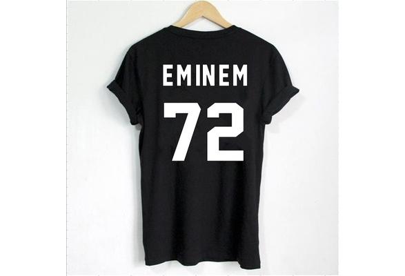 Eminem T Shirt EMINEM 72 Print on Back Side T Shirt Women T Shirt Casual Cotton Funny Shirt ZJ