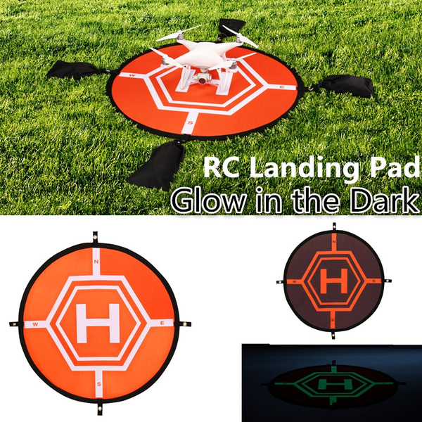 Fast-Fold Landing Pad Helipad Protective Rc Drone Quadcopter Helicopter  Parts Dji Phantom Glow in the Dark