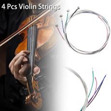 Steel, nickel, violinstringsset, stringsset