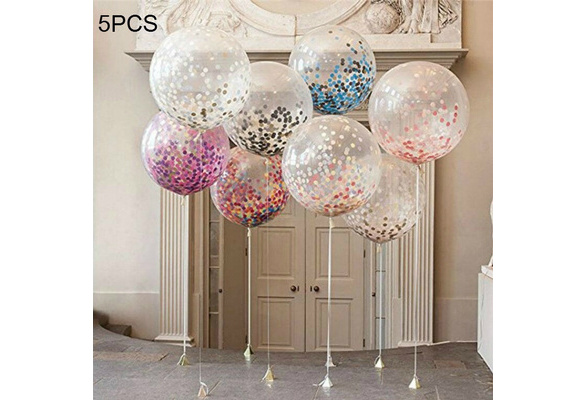 5PCS Colorful Confetti Balloon Birthday Wedding Party Helium Balloons NEW Party Weddings Balloons Accessories