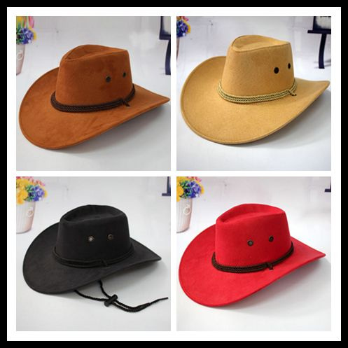 0fbd9f08 2018 New Vintage Wool Western Cowboy Hat For Womem Men Wide Brim ...