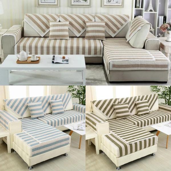 Cotton Linen Lace Sectional Sofa