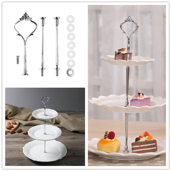 Plates, 3tiercakeplate, Jewelry, Stainless Steel