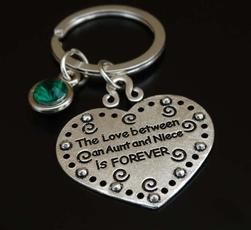 monogram, Love, stamped, carkeychain