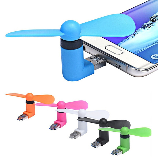 Portable Android Phone Super Mute USB Cooler Micro Mini Fan For Smartphones