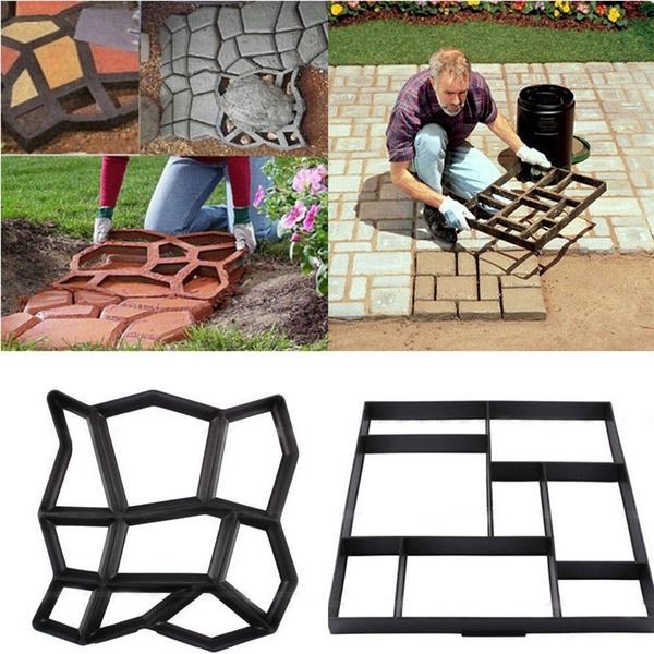 Confident Diy Garden Concrete Paving Mold For Pavement Walkways For Garden Path Paving Mold Pathmate Shovel Furniture