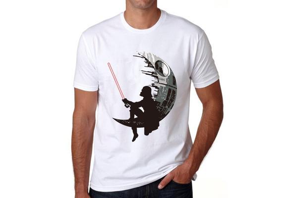 Hipster Summer Fashion Cotton Couples Tee Men T shirt Star Wars Tops The Darth King Printed Cool tee Darthworks Design T-shirts Short Sleeve Summer Tops