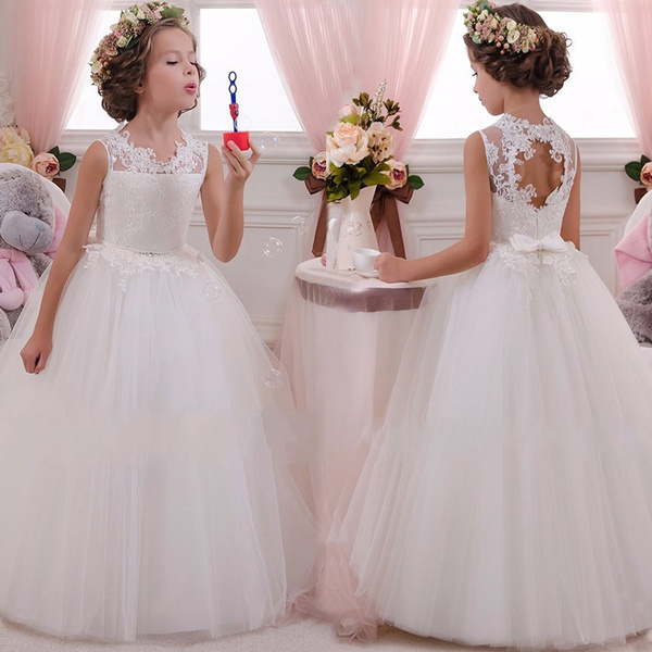 Flower Girl Princess Dress Party Pageant Wedding Bridesmaid Birthday Formal Kids