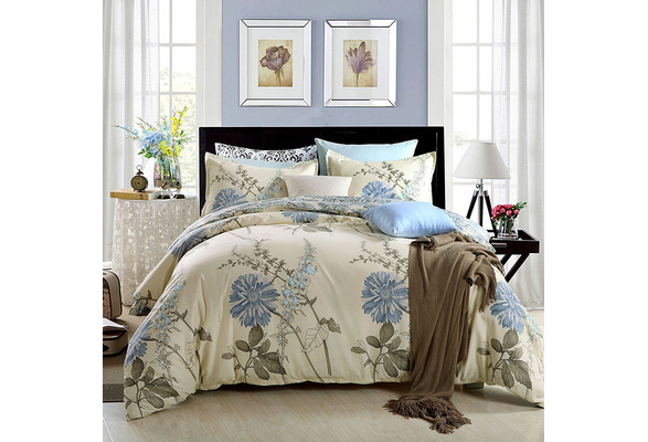 3pcs Duvet Cover Set(1 Duvet Cover + 2 Pillow Shams) Lightweight Polyester microfiber Well Designed Print Pattern - Comfortable, Breathable, Soft & Extremely Durable, Full Queen Size