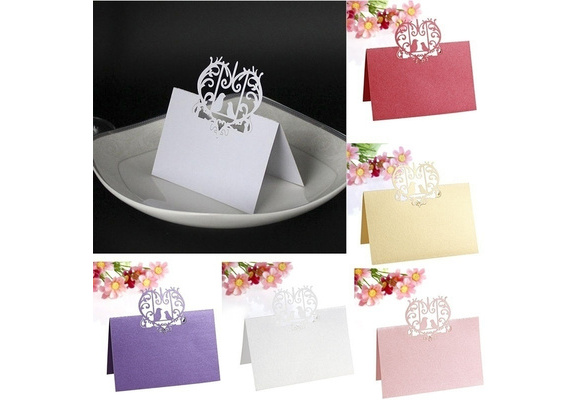 50Pcs Wedding Lovebirds Place Name Cards Personalised/Tableware/Seating Decor