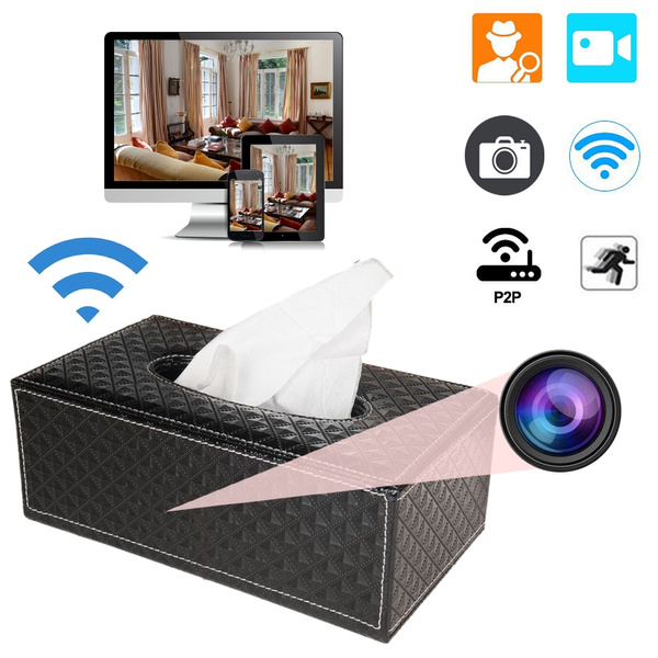 Home Security Camera Tissue Box Wireless 1080P WIFI IP Room Remote for IOS  iPhone Android Phone APP Remote View