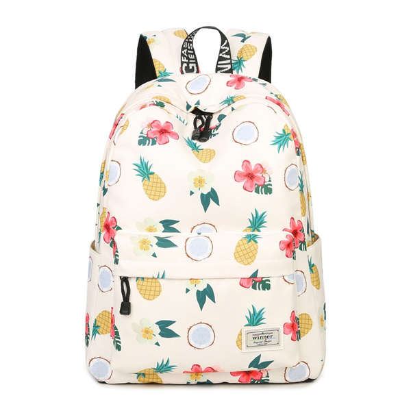 4074a9da4274 Summer Fashion Backpack Women Polyester Shoulder Bag Large Capacity  Backpacks Pineapple Laptop Bag