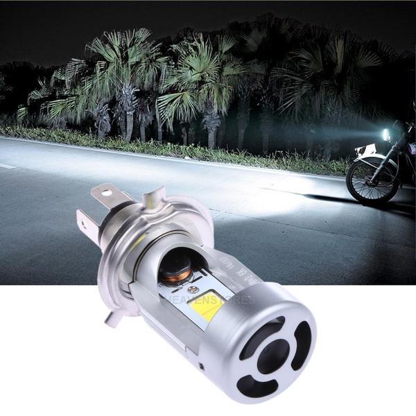 Motorcycle LED H4 HS1 Hi Lo COB Light Headlight Motorbike Bulb Lamp 6500K DC 12V
