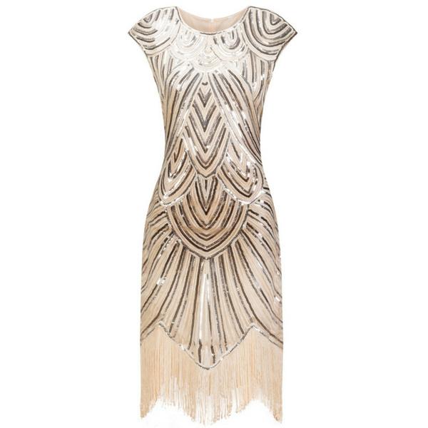 2017 Summer Vintage 1920s Flapper Great Gatsby Sequin Fringe Party Dress  Plus Size Mesh Dress Women Clothing Wedding Dress