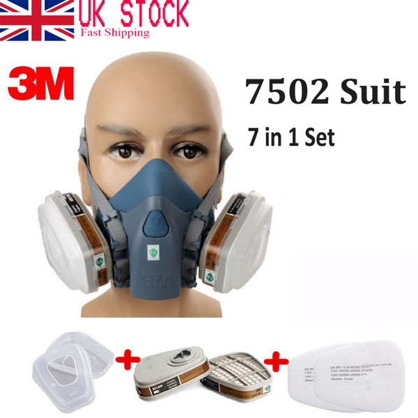 Fire Respirators 3m 6200 Half Facepiece Respirator Medium Size Painting Spraying Face Gas Mask Fire Protection