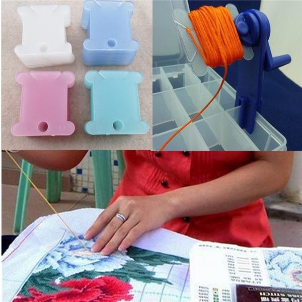 100pcs Thread Bobbins for Cross Stitch Embroidery Floss Craft Storage Holder