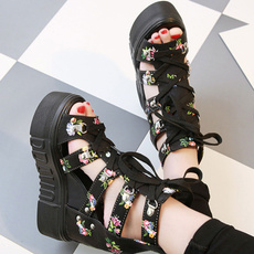 wedge, Sandals, Womens Shoes, peeptoesandal