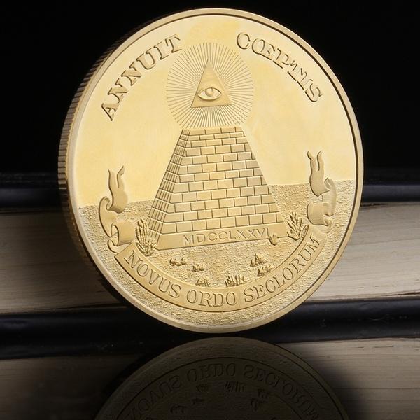 Wish Freemasonry Coin Masonic Symbols Series With All Seeing Eye