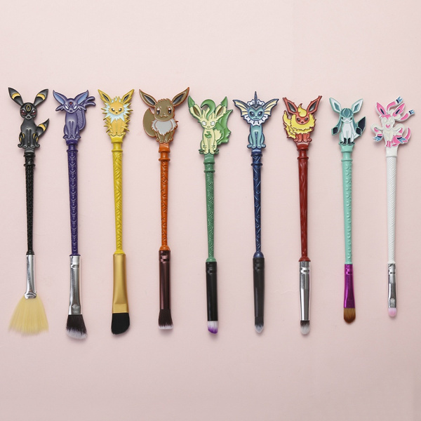 2017 Pokemon Brush Colorful Magic Wand Makeup Pokemon Animal On The Top Eye Shadow Blush Tools Women Gift by Wish