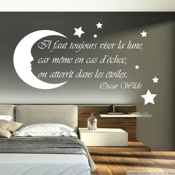 Stickers Muraux Moon Stars Citation Enfant Chambre