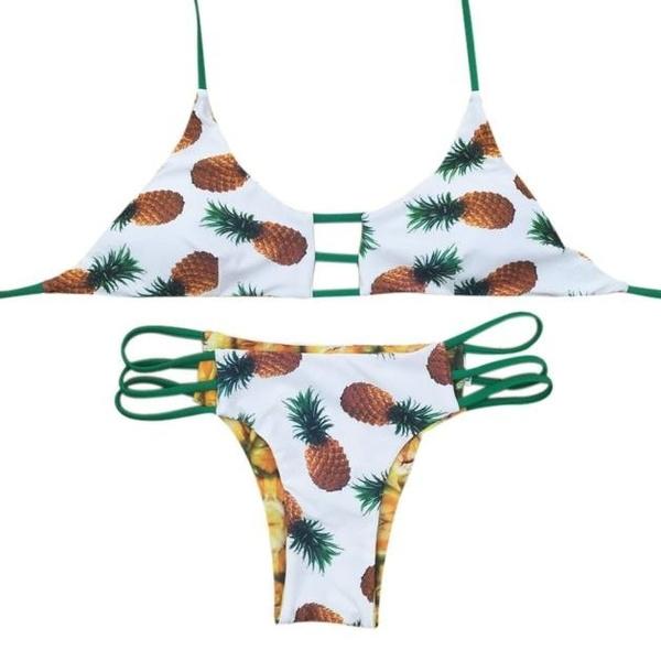 Trajes Summer Bikini Piña Sexy Mujeres De Brasileños Backless Las Traje Playa Baño 0OknwP