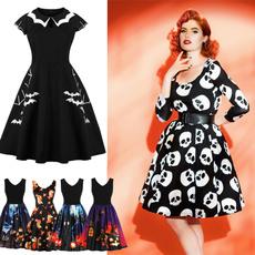Swing dress, ballgowndresse, Christmas, skullprint