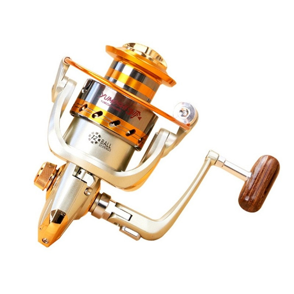 12BB Ball Bearing Aluminum Metal Saltwater Freshwater Fishing Reels  Spinning Fly Fishing Reel Baitcasting EF1000-7000 Upgrade