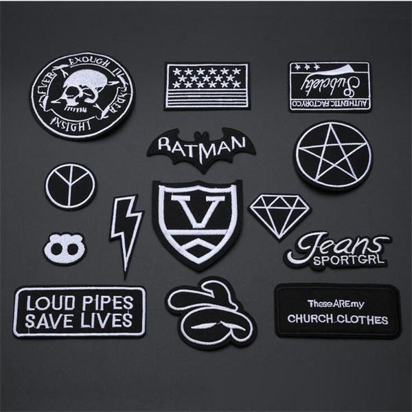 ironon, Fabric, skull, Stickers