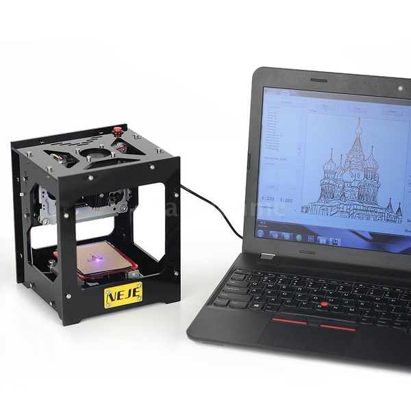 NEJE DK-8-FKZ Brand New 1500mW High Speed Mini USB Laser Engraver Carver  Automatic DIY Print Engraving Carving Machine Off-line Operation with