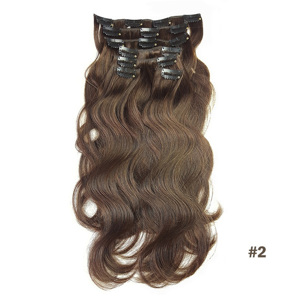 Wish Body Wave Clip In Hair Extensions Human Hair Thick Full Head