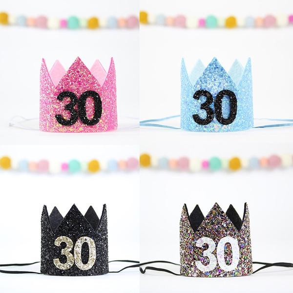 30th Headwear Birthday Crown