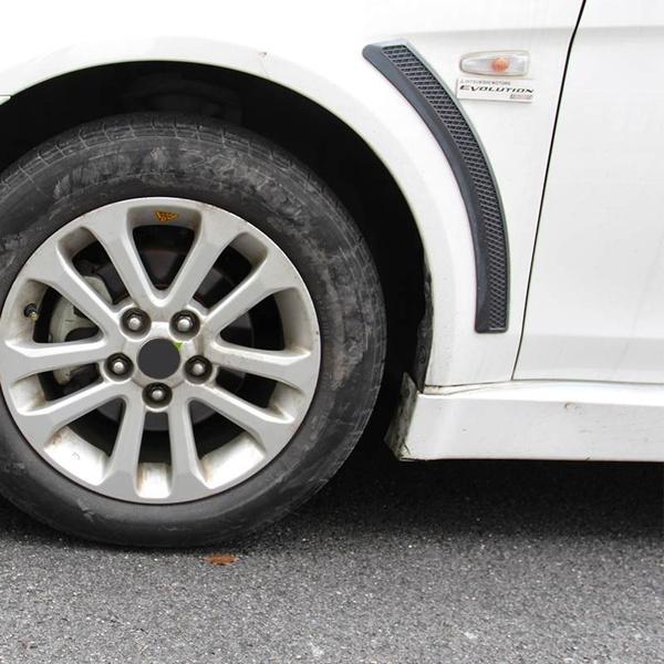 Wish carbon fiber texture fender air vent decal sticker for mitsubishi lancer evolution x fortis evo ex io cj es car styling